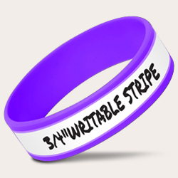 3/4 Inch Writable Purple Bands