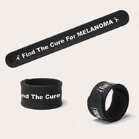 Black Melanoma Slap Bands