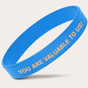 Blue Inkfilled Promotional Bracelets