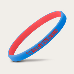 Red Blue Dual Layer Bands