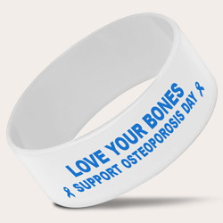 Extra-Wide White Wristbands