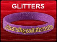 Standard Purple Glitter Wristband