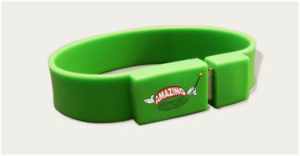 Usb Flashdrive Bracelets With Logo Printed