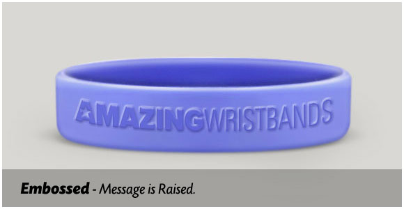 embossed wristbands-