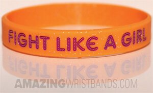 Half-inch Orange Bracelet With Glitter Effect