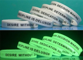 Wristbands with Non-Glow & Glow Effect