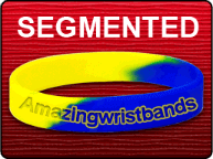 Yellow Blue Segmented Bracelet