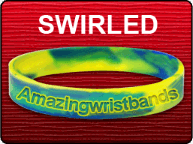Standard Size Yellow Green Swirled Band