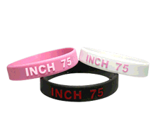 Colorized Embossed Wristbands thumbnail