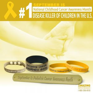 Chidhood Cancer Awareness Wristbands