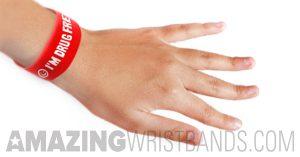 Drug Free Red Bracelets