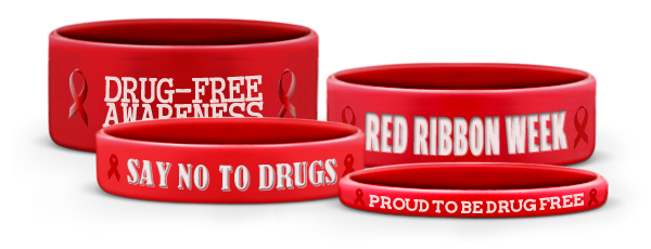 Custom Red Wristbands