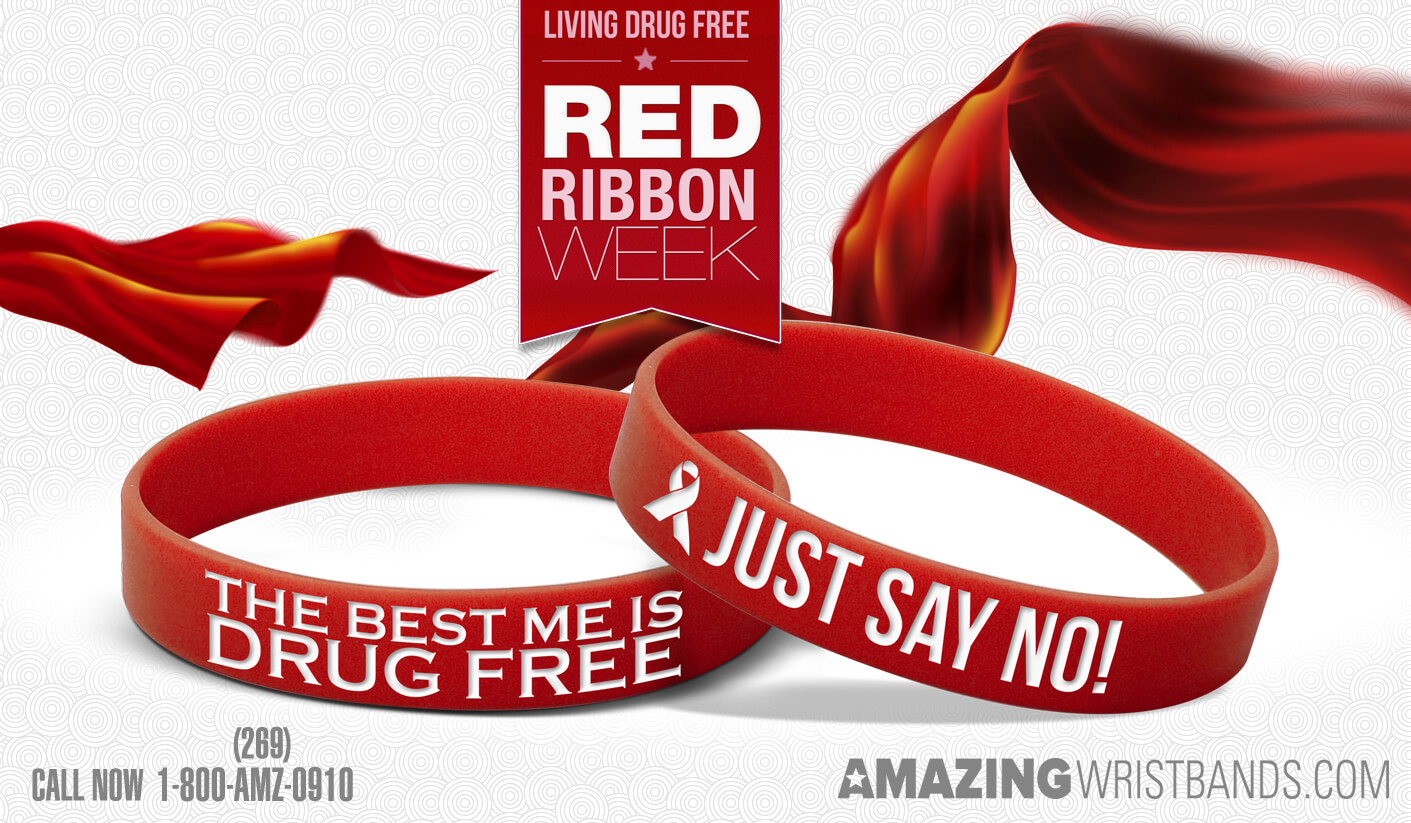 ribbon drug to promotions sticker off hats bracelet being free positive red rs p week