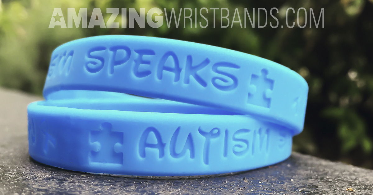 Blue Autism Wristbands
