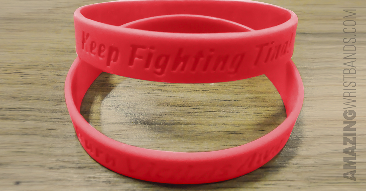 Red Color AIDS Awareness Bracelets