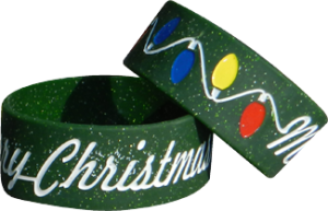 Silicone Bracelets With Christmas Message
