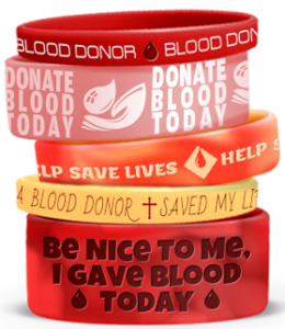 Blood Donor Awareness Wristbands