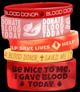 Blood Donor Awareness Wristbands
