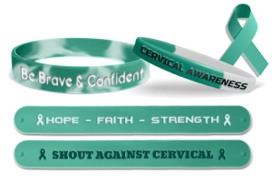 Cervical Cancer Awareness Wristbands