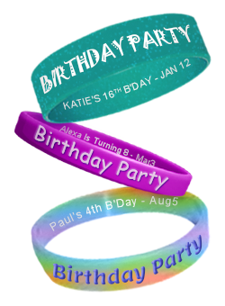 Kids Birthday Party Bracelets