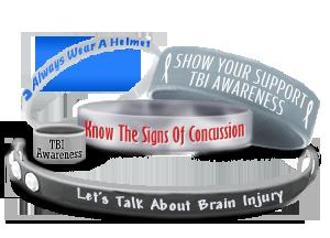 Custom Brain Injury Awareness Wristbands