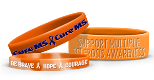 Support Multiple Sclerosis Awareness With Orange Wristbands