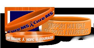 Ms Awareness Wristbands Custom Made Bracelets
