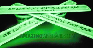 Custom Glow Wedding Slap Bands