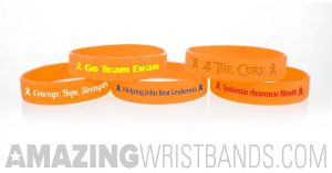 Leukemia Awareness Orange Wristbands