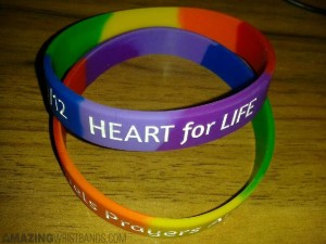 heart disease awareness wristbands