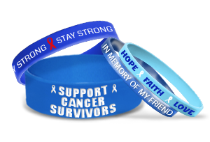 Blue Wristbands To Support Campaign