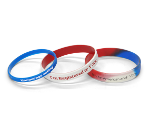 Voter Registration Bracelets