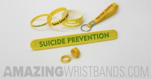 Yellow Wristbands To Support Suicide Prevention