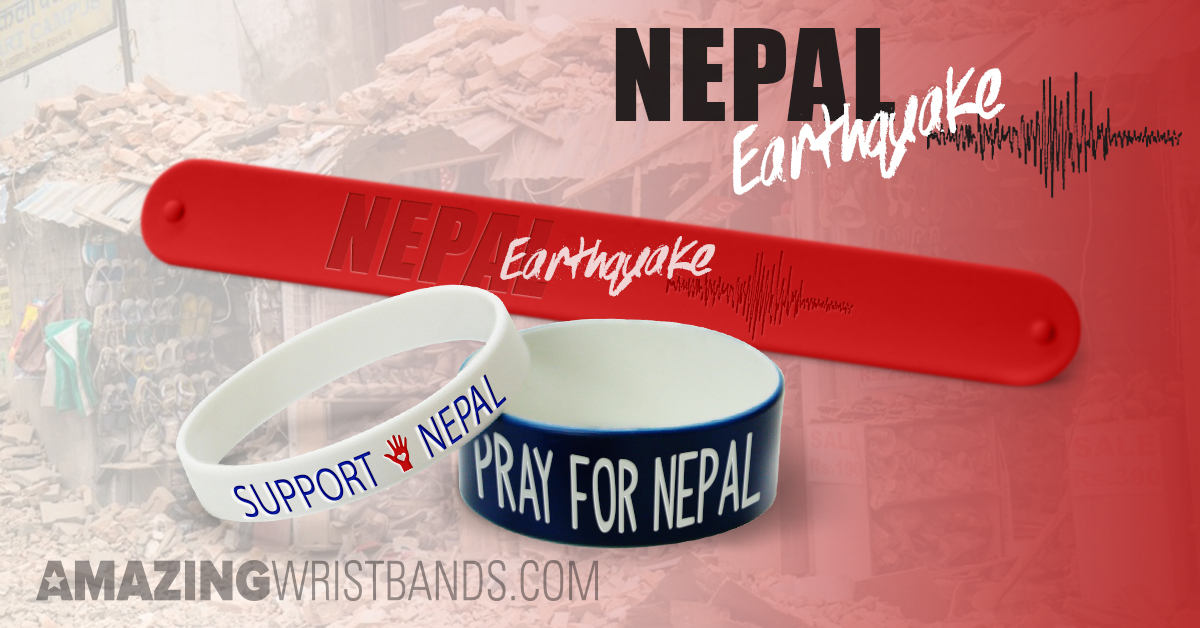 Custom Earthquake Relief Bands