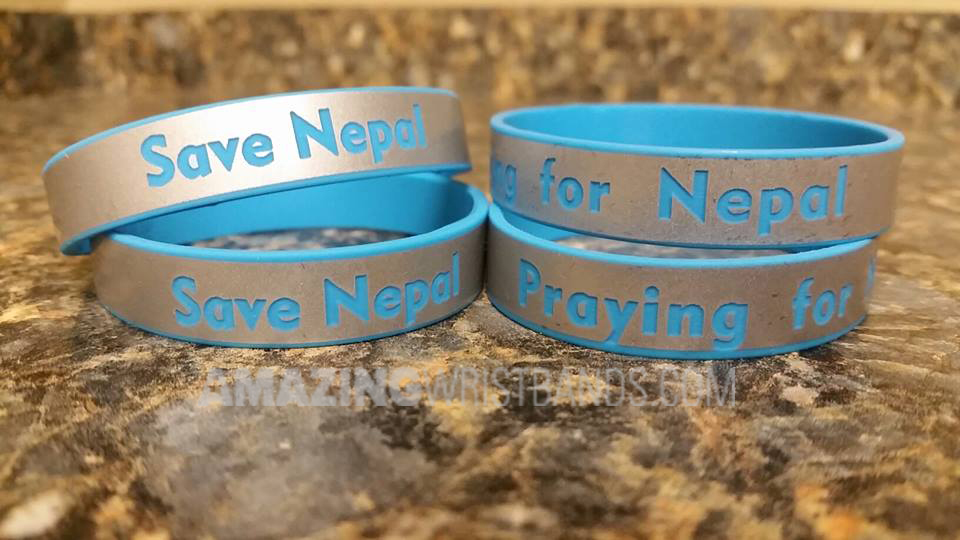 Wristbands For Earthquake Relief