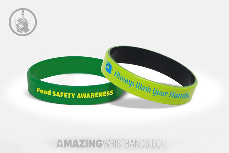 Custom Food Safety Awareness Wristbands