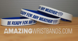 Wristbands With Weather Alert