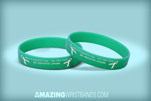 Wristbands With Hepatitis Day Message
