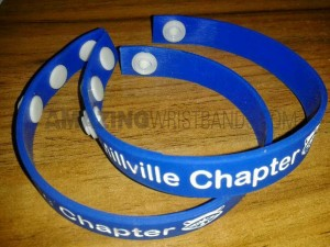 Custom Adjustable Silicone Wristbands