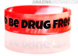 Red Drug-Free Bands