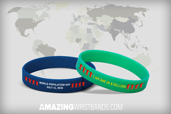 Wristbands With World Population Day Message
