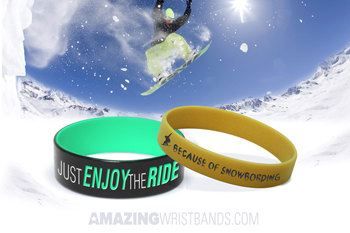 Love For Snowboarding With Wristbands