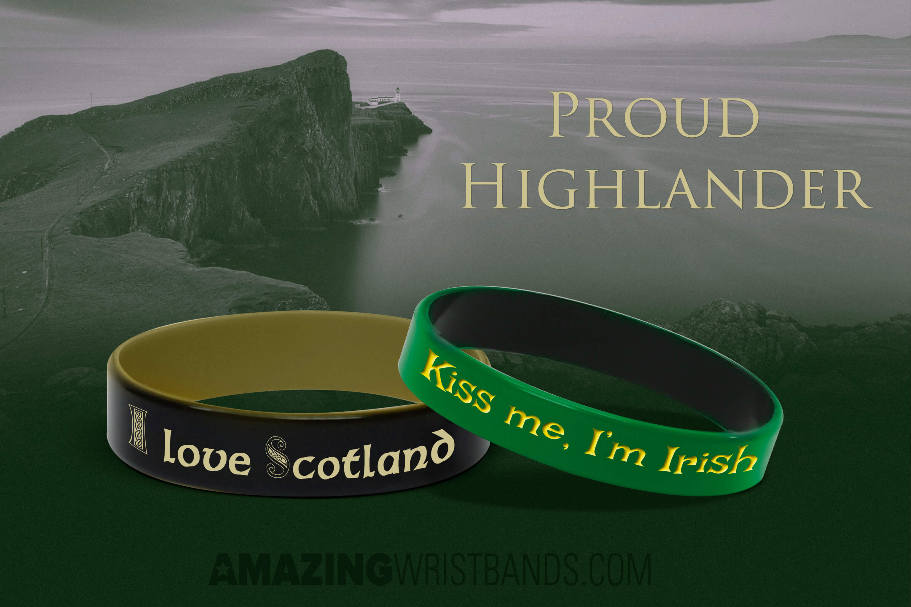 Scottish Irish Wristbands