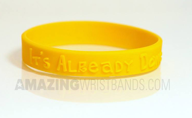Custom Yellow Bracelets
