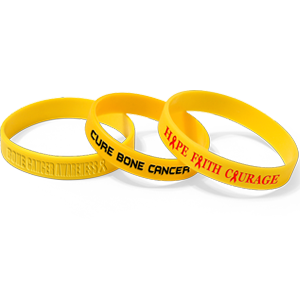wristbands with osteosarcoma message