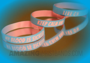 Custom Sickle Cell Wristbands
