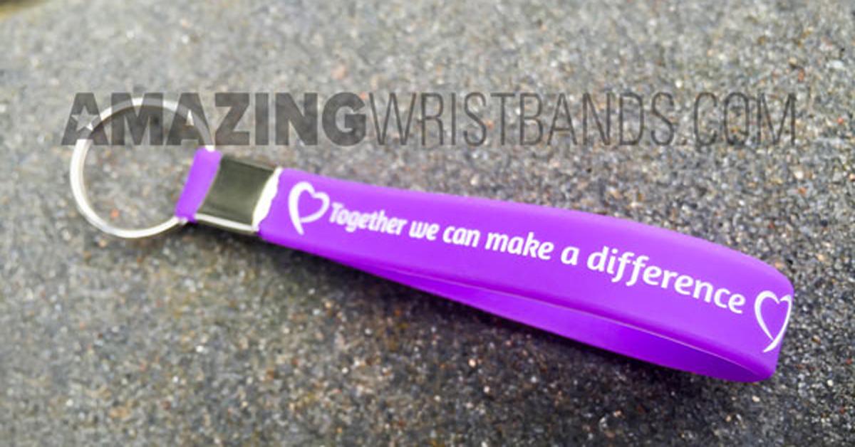 Custom Vitiligo Purple Keychains