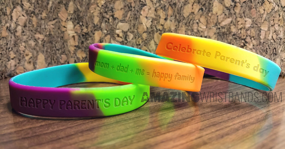 Debossed Parents' Day Wristbands