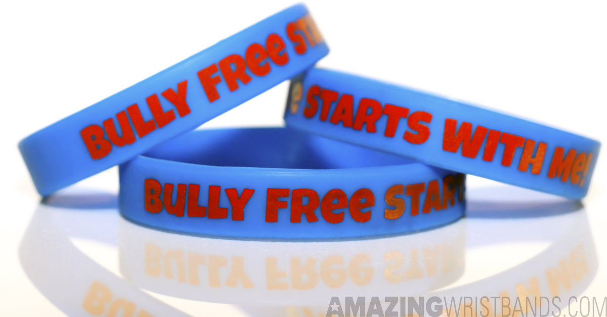 single rubber dp silicone bullying bracelet adult wristband amazon against blue band anti quot com