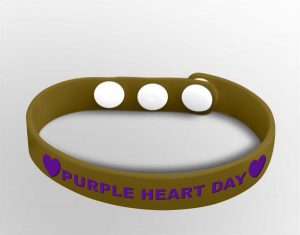 Custom Purple Heart Day Bands